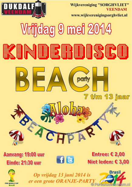 Beachparty kinderdisco dukdalf